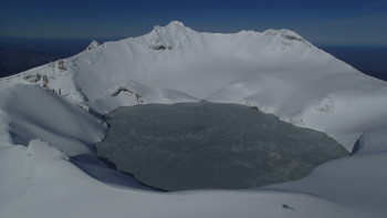 Ruapehu Crater Lake from the north