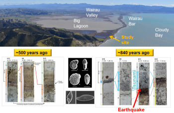 Tsunami evidence in Big Lagoon near Blenheim