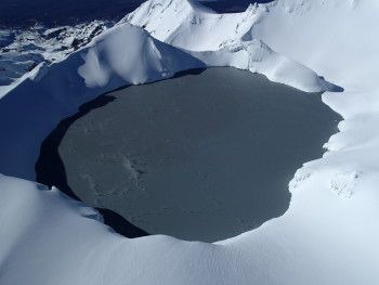 Mt Ruapehu Crater Lake on 27 August 2018 during a routine sampling visit