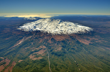 Aerial View of Mt Ruapehu from the South West. (D. Townsend) VML 150292
