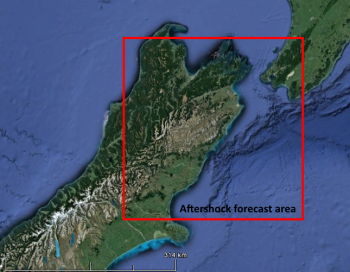 aftershock probability map