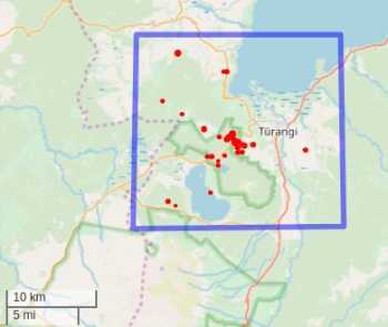 Map showing the location of the earthquakes